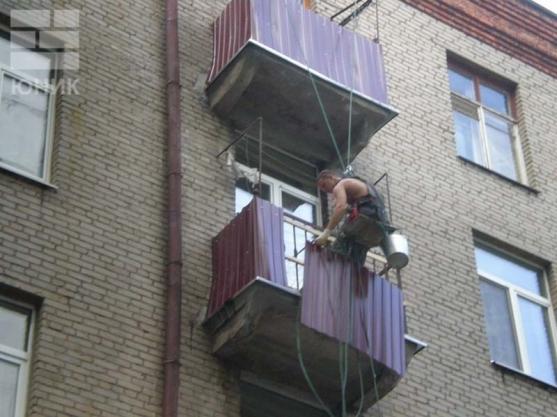 Восстановление балконов и балконных плит.